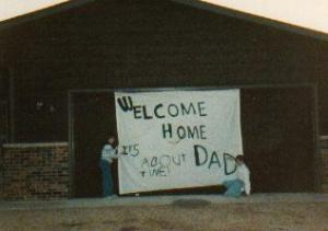 A welcome home after working out of state for a few months - 1986