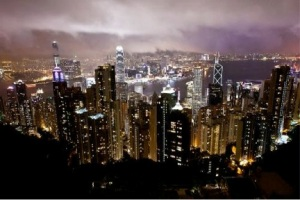 HK at night viewed from Victoria Peak