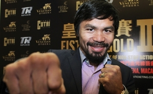 Manny Pacquiao publicity photo for Brandon Rios fight this November in Macau. Photo: Edward Wong