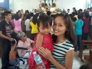 E. G. holding her niece.