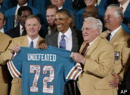 Presenting the President with a signed Jersey