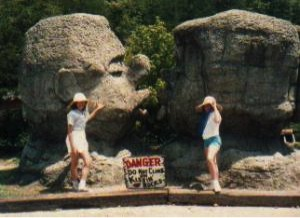 Dad had wanted me and Angie to kiss in front of these rocks...