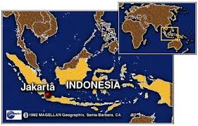 So you can see the land of Indonesia - where it is located.....